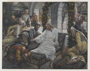 Woman at Jesus feet