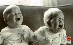 Two Babies-laughing-crying