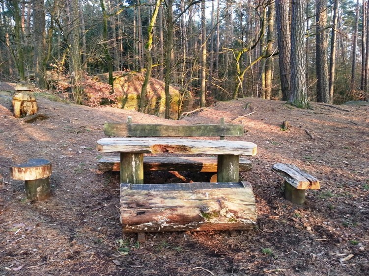 Bench at Castle Quarry Overlook