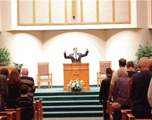 preacher & congregation